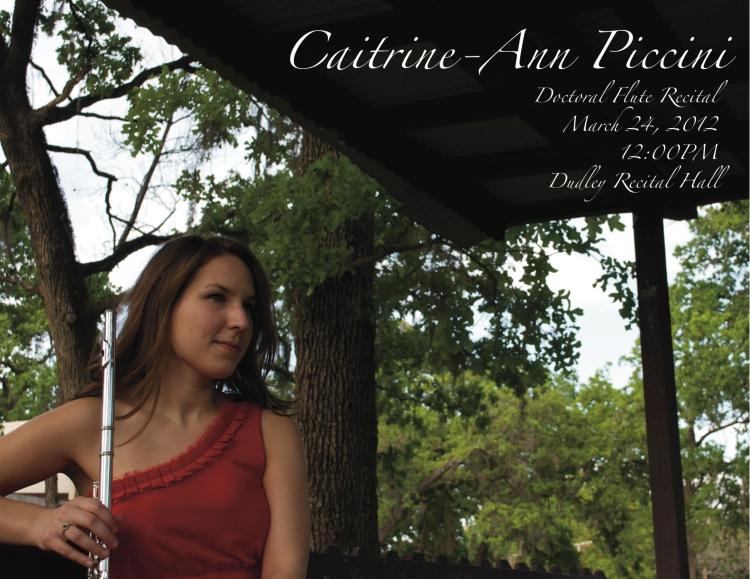 Caity Recital Poster